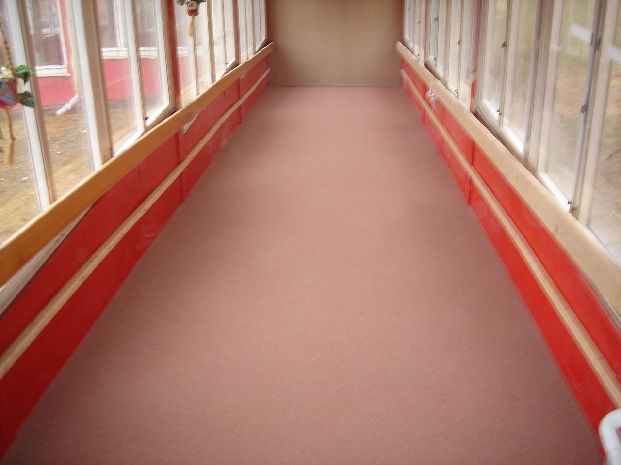 Chodba ve škole - epoxidová podlaha